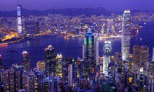香港国际金融中心大楼摄影高清图片