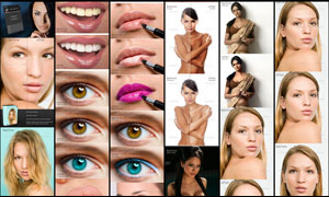 超美的人像皮肤润色和美妆效果动作