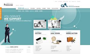 公司企业网页设计PSD模版源文件