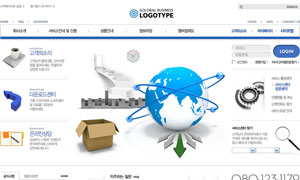 贸易商务公司网页设计PSD源文件