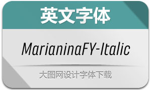 MarianinaFY-Italic(英文字体)