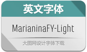 MarianinaFY-Light(英文字体)