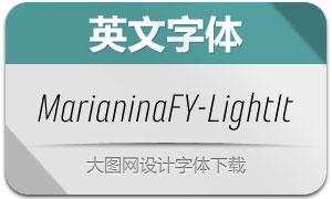 MarianinaFY-LightItalic(字体)