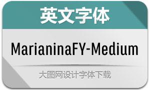 MarianinaFY-Medium(英文字体)