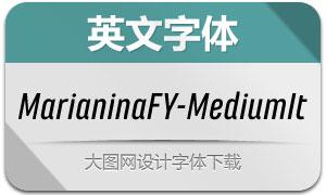 MarianinaFY-MediumIt(英文字体)