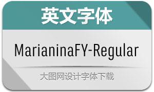 MarianinaFY-Regular(英文字体)