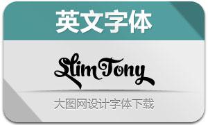 SlimTony(英文字体)