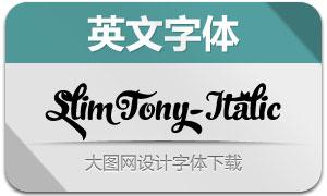 SlimTony-Italic(英文字体)