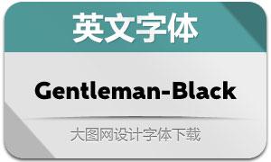 Gentleman-Black(英文字体)