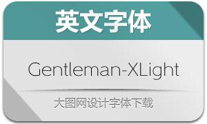 Gentleman-ExtraLight(英文字体)