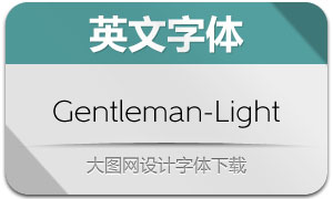 Gentleman-Light(英文字体)