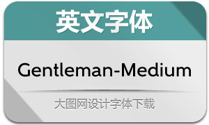 Gentleman-Medium(英文字体)