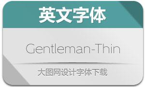 Gentleman-Thin(英文字体)