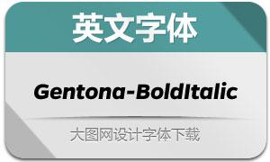Gentona-BoldItalic(英文字体)