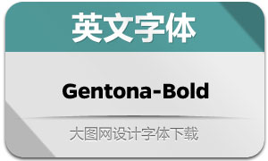 Gentona-Bold(英文字体)