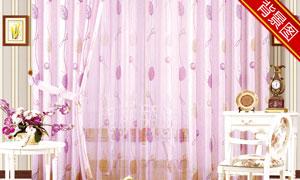 窗帘与桌椅等影楼摄影背景高清图片