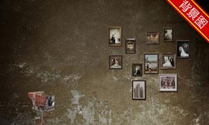 复古怀旧空间影楼摄影背景高清图片