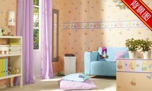 儿童房内景等影楼摄影背景高清图片