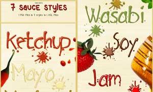 7款果酱风格透明立体字样式
