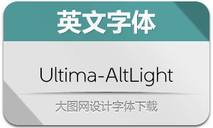 Ultima-AltLight(英文字体)