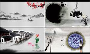中国风传统水墨背景设计PSD源文件