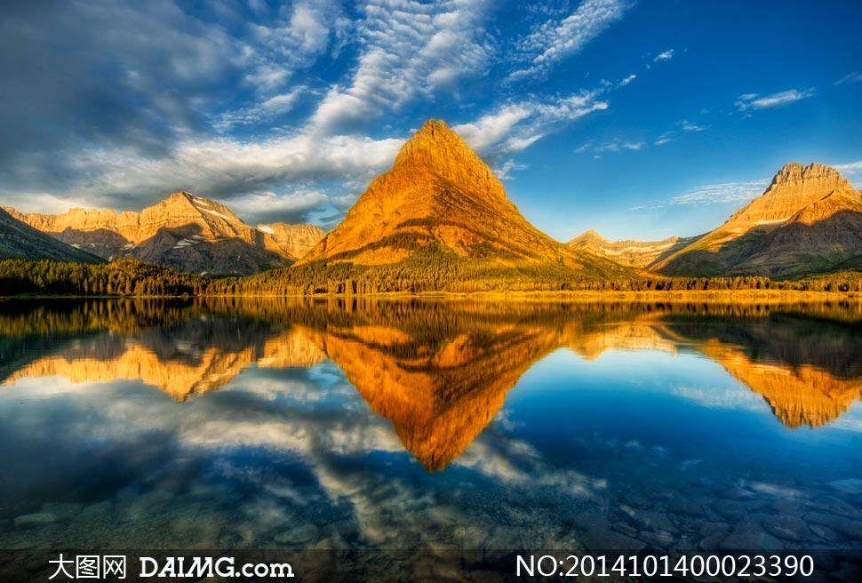 山水倒影自然风光摄影图片