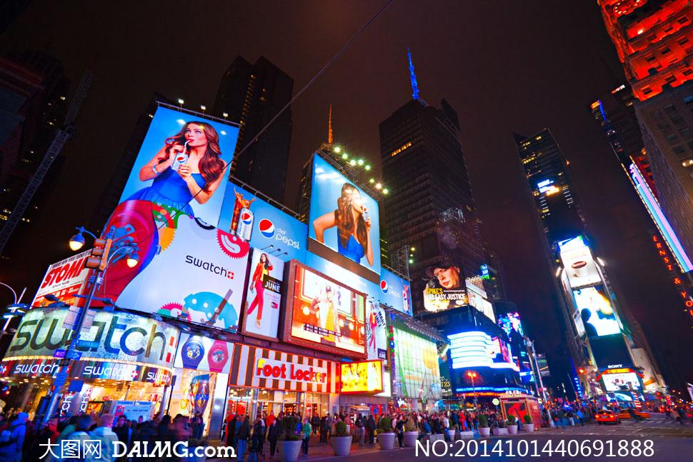 流光溢彩繁华城市街头摄影高清图片图片
