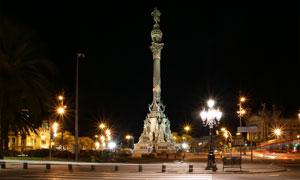 巴塞罗那哥伦布纪念碑摄影高清图片