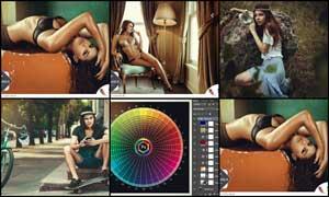 人像质感肤色效果和逆光效果调色动作