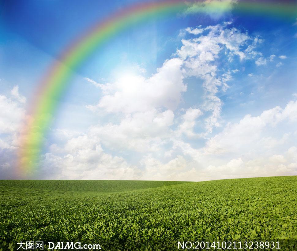 关键词: 高清摄影大图图片素材自然风景风光天空云彩云层多云蓝天彩虹