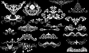 古典花纹藤蔓设计元素PSD分层素材