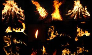 超炫的燃烧火苗火焰效果PSD分层素材
