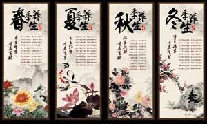 中国风养生文化展板设计PSD源文件