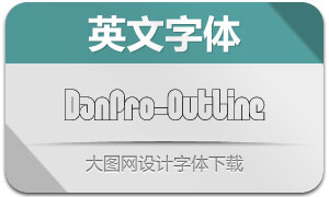 DanPro-Outline(英文字体)