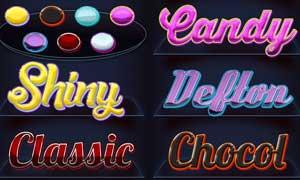 7款闪亮的糖果风格艺术字样式