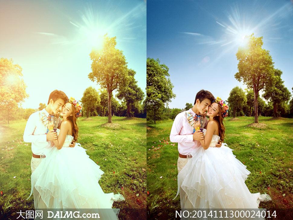 人像照片添加柔光效果PSD調色圖層