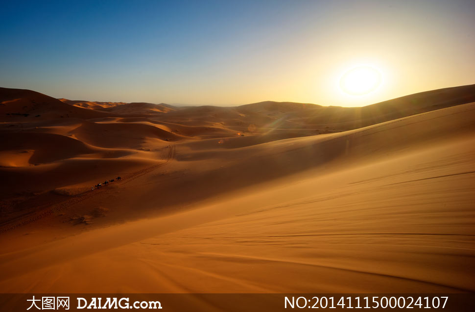 天空沙漠风景自然景观自然风景摄影高清大图图片素材