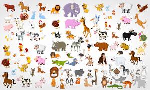 超多款的可爱卡通风格动物矢量素材