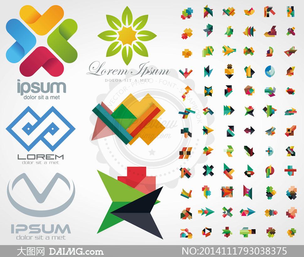 矢量图设计素材标志logo创意设计抽象图形炫彩多彩