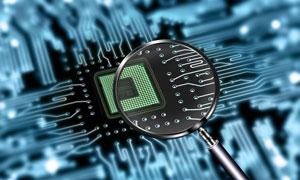 电脑主板CPU插槽放大效果高清图片