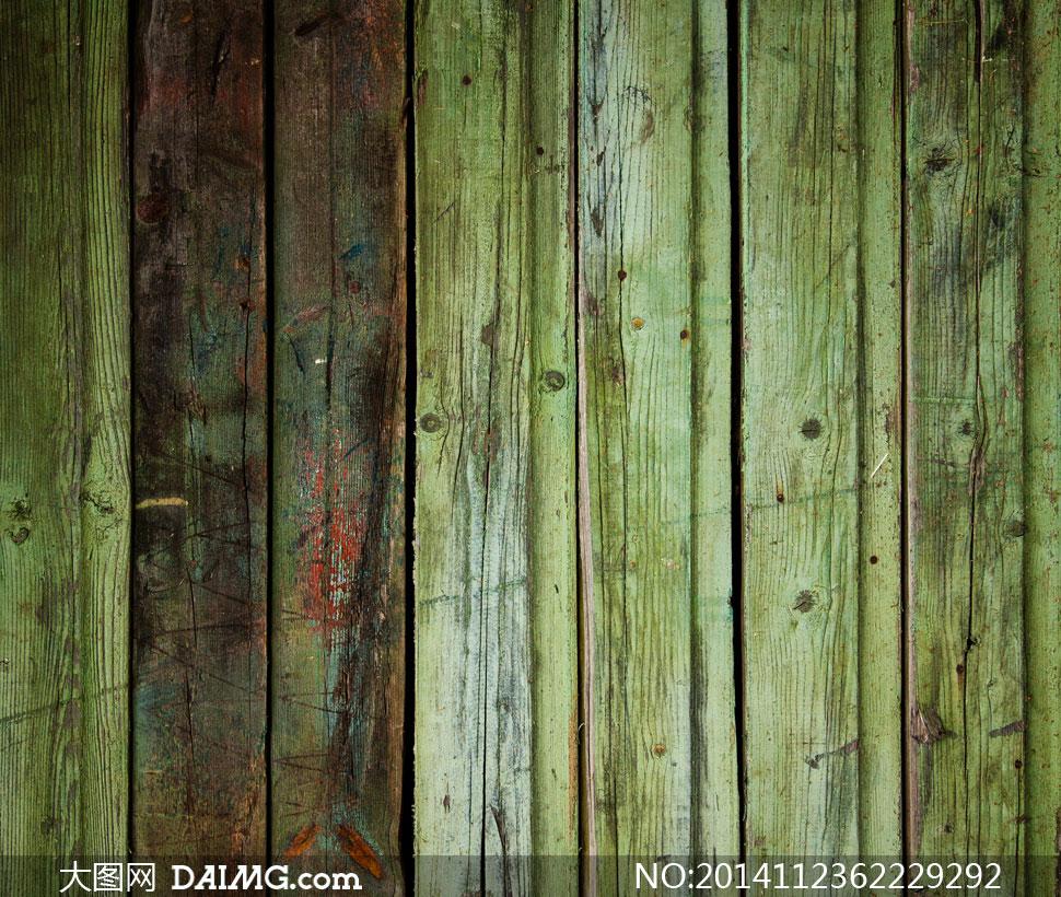 图片素材背景木纹木板纹理材质竖向竖纹颓废怀旧绿色