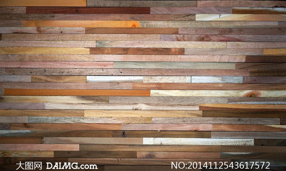 小块木板条组成的木纹背景高清图片