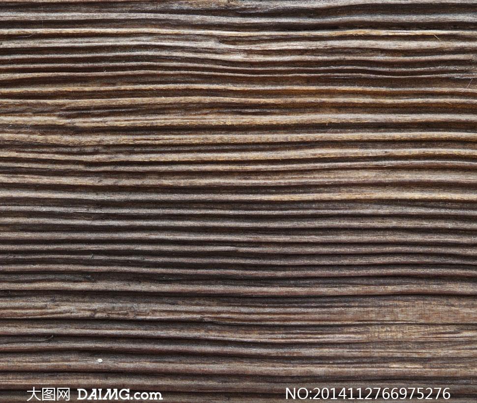 有着粗线条表面的木板摄影高清图片