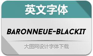 BaronNeue-BlackItalic(英文字体)