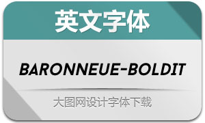BaronNeue-BoldItalic(英文字体)