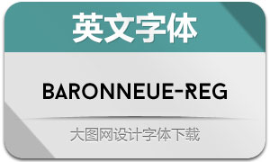 BaronNeue-Regular(英文字体)