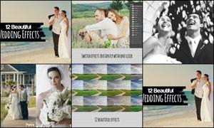 12款婚纱照片冷色效果调色动作