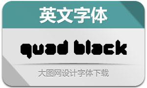 Quad-Black(创意英文字体)