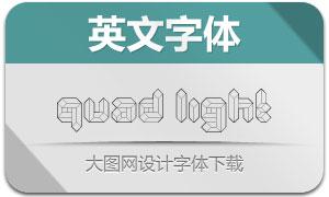 Quad-Light(立体创意英文字体)