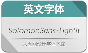 SolomonSans-LightIt(英文字体)